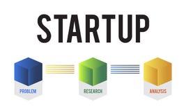Planungs-Ziel-Strategie-Lösungs-Start Lizenzfreie Stockfotos