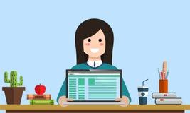Planungsanalytik srartup Marketing des Managements entwirft digitale Bezahlung-pro-Klick- seo Social Media-Analyseaktionen und En stock abbildung