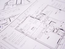 plany architektoniczne plany Fotografia Stock