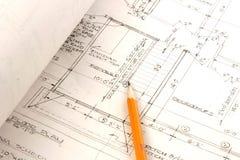 plany architektoniczne plany Obrazy Royalty Free