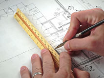 plany architektoniczne projektów Obraz Royalty Free
