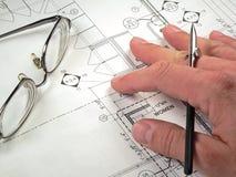 plany architektoniczne projektów Zdjęcie Stock
