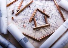 plany budowy Fotografia Stock