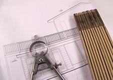 plany domów Obrazy Royalty Free