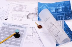 plany domów Obrazy Stock
