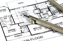 plany kompasu domu obrazy stock