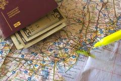 Plany podróży Zdjęcia Stock