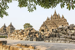 Plaosan寺庙在Java海岛,印度尼西亚 库存照片