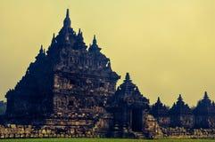 Plaosan寺庙在Sleman,日惹,印度尼西亚 图库摄影