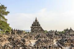Plaosan寺庙废墟在Java海岛,印度尼西亚 免版税库存图片