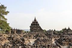 Plaosan寺庙废墟在Java海岛,印度尼西亚 库存图片