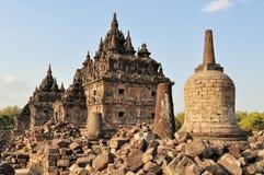 Plaosan Buddhist Temple in Yogyakarta,  Indonesia Royalty Free Stock Photo