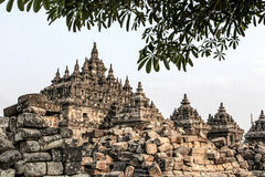 Plaosan Temple in Java Island, Indonesia. Ruins of Plaosan temple in Java island, Indonesia Royalty Free Stock Image