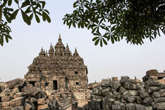 Plaosan Temple in Java Island, Indonesia. Ruins of Plaosan temple in Java island, Indonesia Royalty Free Stock Photography