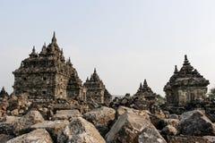 Plaosan Temple in Java Island, Indonesia. Ruins of Plaosan temple in Java island, Indonesia Stock Photo