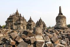 Plaosan Temple in Java Island, Indonesia. Ruins of Plaosan temple in Java island, Indonesia Stock Photography