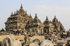 Plaosan Temple in Java Island, Indonesia. Ruins of Plaosan temple in Java island, Indonesia Royalty Free Stock Photos