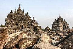Plaosan Temple. Ruins of Plaosan temple in Java island, Indonesia Stock Photos