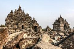 Plaosan Temple. Ruins of Plaosan temple in Java island, Indonesia Stock Photos