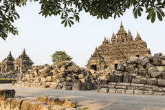 Plaosan Temple. Ruins of Plaosan temple in Java island, Indonesia Royalty Free Stock Photography