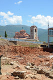 Plaosnik  church in Ohrid, Macedonia Royalty Free Stock Images