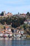 Plaosnik Or Saint Kliment Church and Ohrid Lake, Macedonia Stock Photos