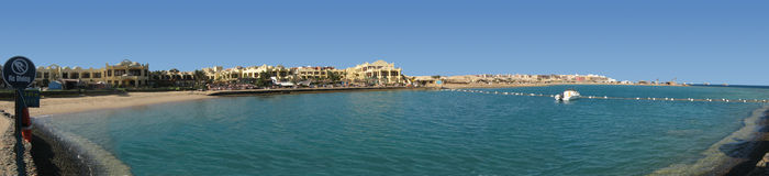 Plażowa hotel panorama Zdjęcie Stock