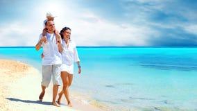 plażowa rodzina Zdjęcie Royalty Free