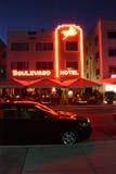 plażowego bulwaru hotelowi Miami południe Zdjęcie Stock