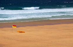 plażowej flaga ratownik Zdjęcia Stock