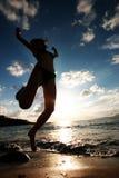 plażowi młodych kobiet Fotografia Royalty Free