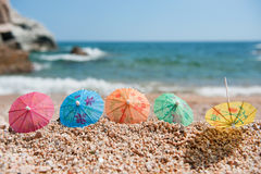 plażowy cień Fotografia Royalty Free