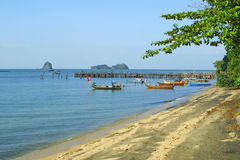 plażowy czarny wyspy Langkawi piasek Zdjęcie Royalty Free