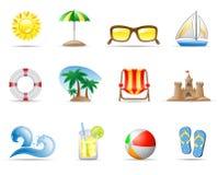 plażowy denny słońce Zdjęcia Stock