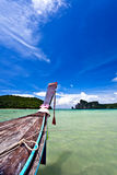plażowy łódkowaty pobliski Zdjęcie Royalty Free