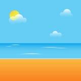 plażowy dzień Obrazy Royalty Free