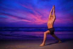 Plażowy joga Zdjęcia Stock