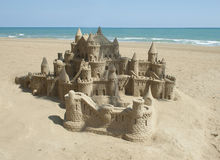 plażowy kasztel zrobił piaskowi target1497_0_ kształt Obraz Stock