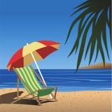 plażowy krzesło Zdjęcie Royalty Free