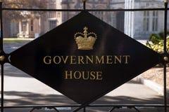 Plaque à l'entrée à la Chambre de gouvernement de NSW photo libre de droits