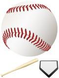 Plaque à la maison et Ligue Majeure de Baseball de 'bat' Images stock