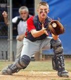 Plaque aînée de gant de baseball de série du monde de base-ball de ligue Image stock