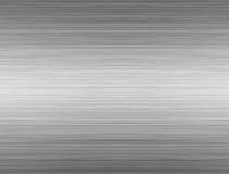 Plaque argentée en aluminium Photographie stock