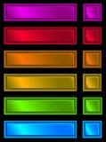 Plaque au néon Photos stock