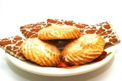 Plaque avec des biscuits Image libre de droits
