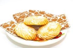 Plaque avec des biscuits Photographie stock libre de droits
