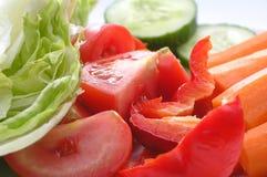 Plaque avec des légumes image libre de droits