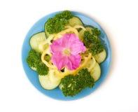 Plaque avec des légumes Photo libre de droits