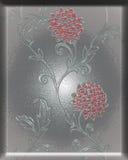 Plaque avec la fleur Photographie stock libre de droits