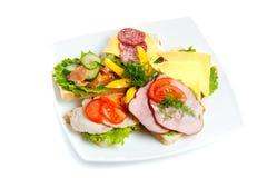 Plaque avec la nourriture saine Images stock